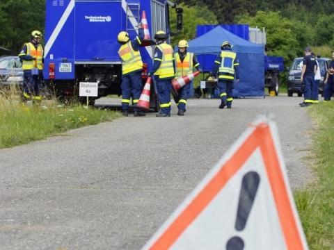 Unfalleinsatz Technisches Hilfswerk THW