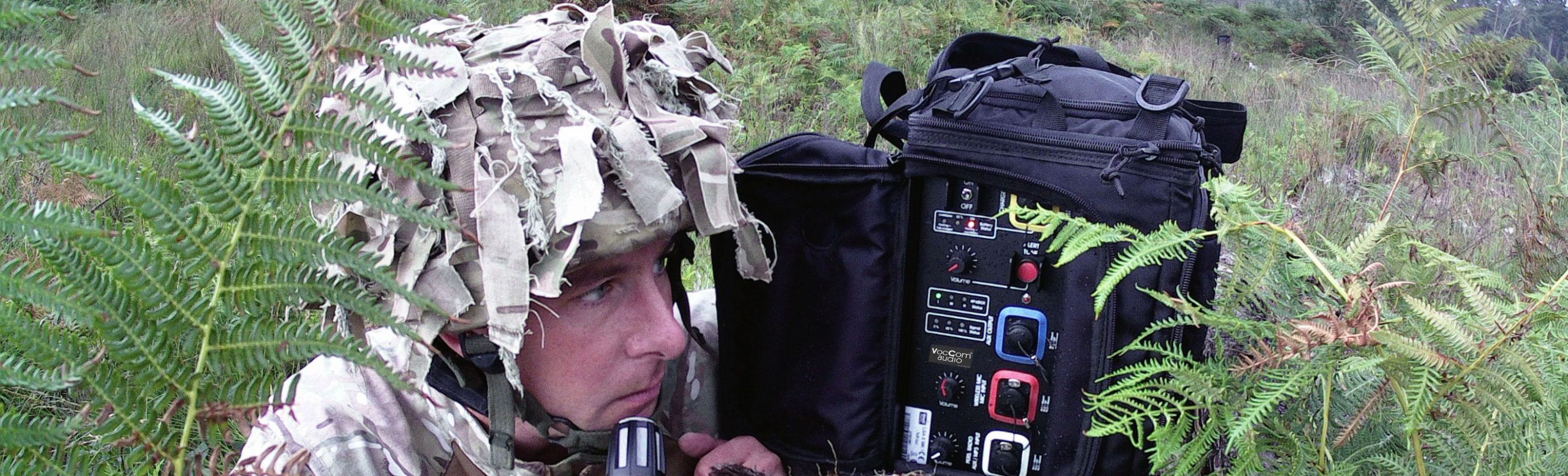 Mobile Loudspeaker LSA-X-MK2 used by army soldier