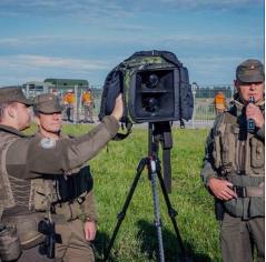 Tragbarer Lautsprecher / Megaphone LSA-X-MK2 im Einsatz des Bundesheer Österreich