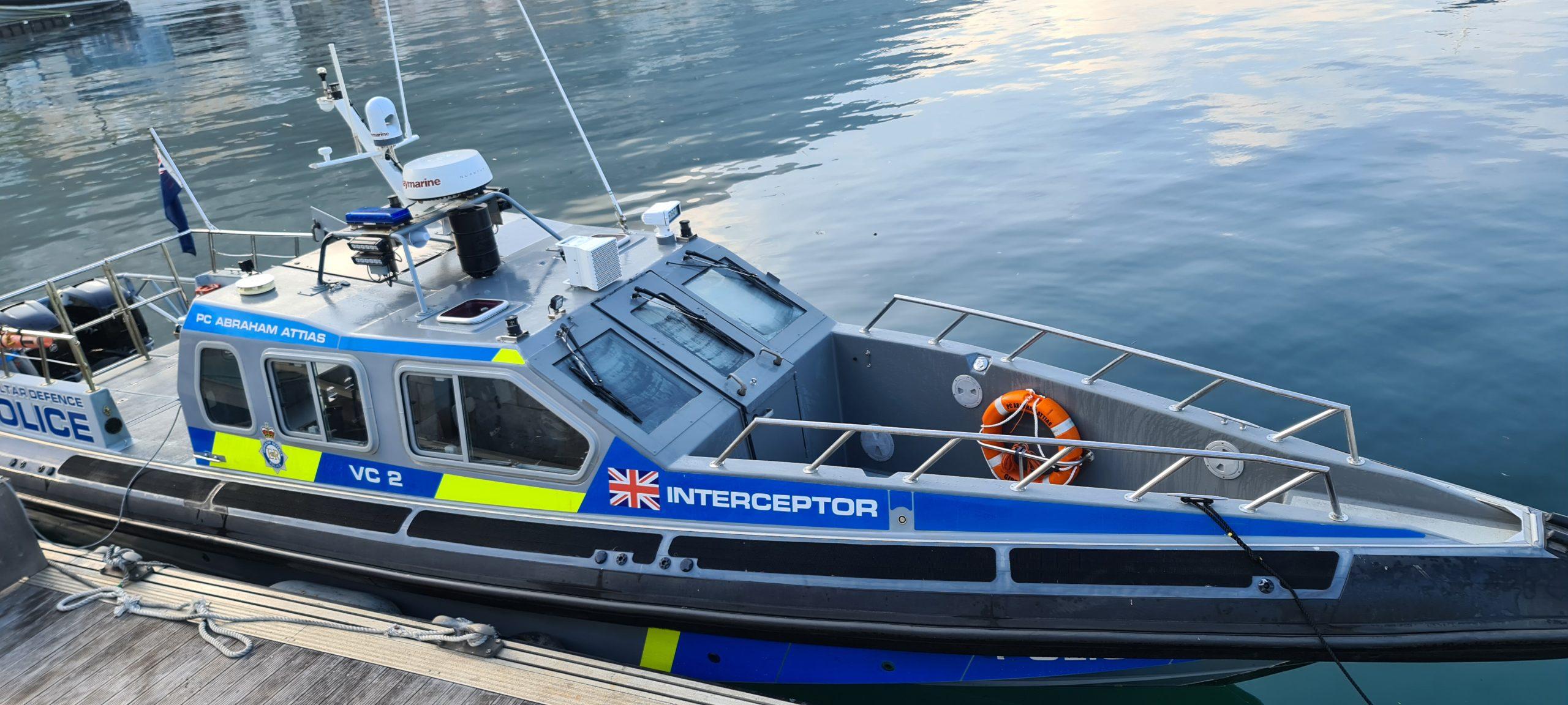 AHD M-115 on Interceptor vessel Acoustic Hailing Device on boat ship