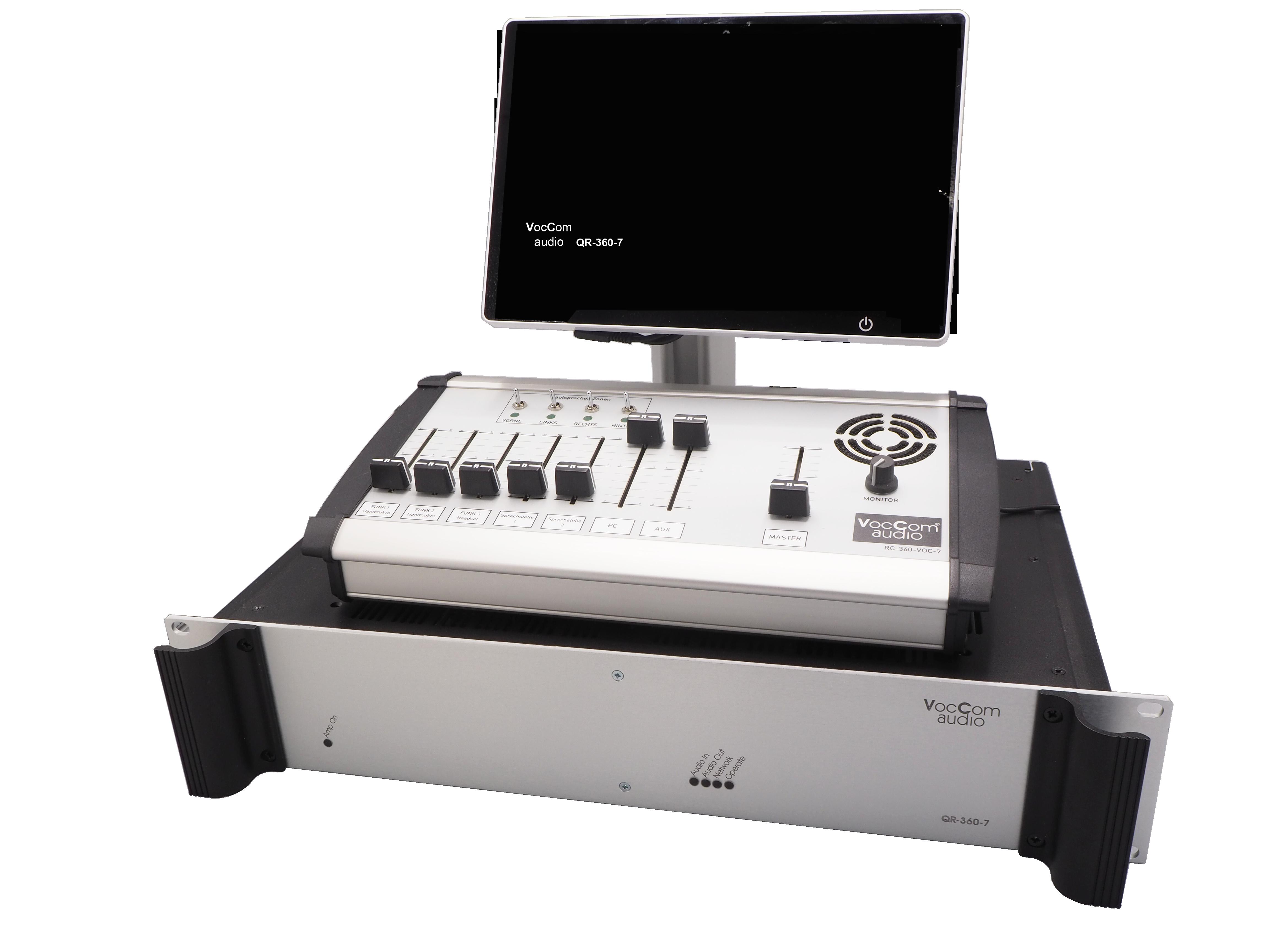 DSP Matrixmischpult QR-260-7 mit Regeleinheit und Touchdisplay