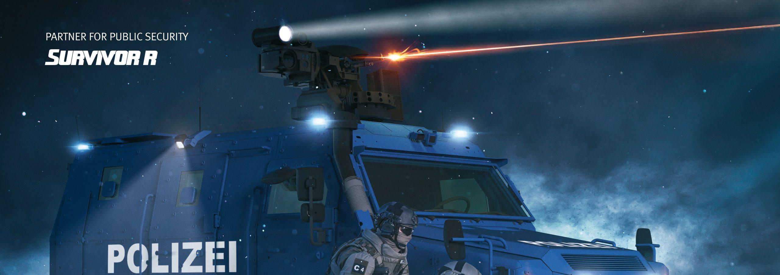 AHD M-215X auf Rheinmetall Survivor R für Polizei